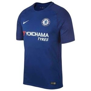 Nike 2017 Chelsea Home Blue Soccer Jersey Size L